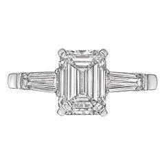 Betteridge 2.01 Carat Emerald-Cut Diamond Engagement Ring