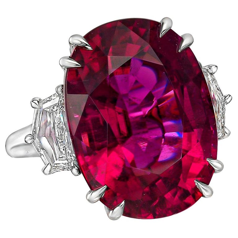 Betteridge 20.45 Carat Pink Tourmaline and Diamond Cocktail Ring