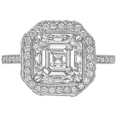 Betteridge 3.13 Carat Asscher-Cut Diamond Ring 'I/VS2'