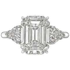 Betteridge 4.01 Carat Rectangular Step-Cut Diamond Engagement Ring