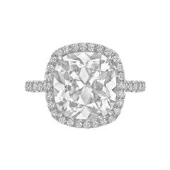 Betteridge 5.08 Carat Cushion-Cut Diamond Ring
