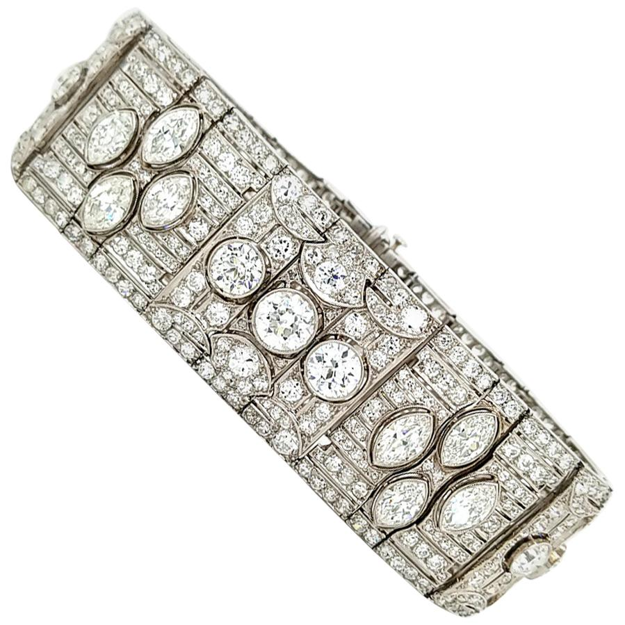 Betteridge Diamond Art-Deco Platinum Bracelet, circa 1930s