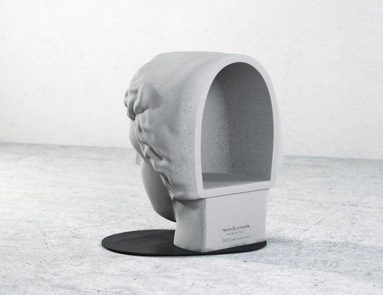 Italian Betti Concrete Stool 100% Handmade in Italy For Sale