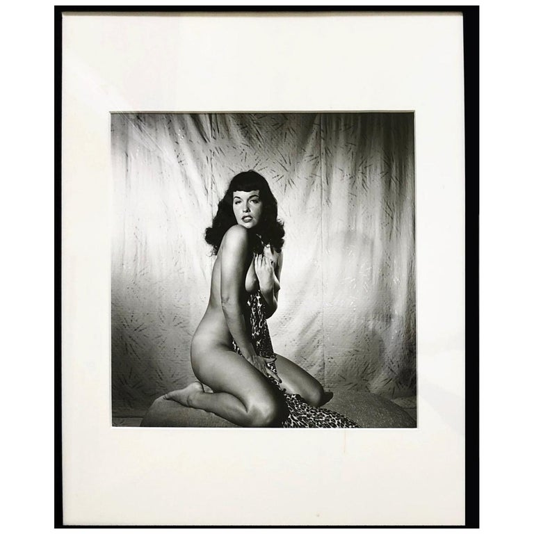 """Bettie Page Clutching Robe"", 1954 For Sale"