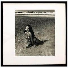 Bettie Page 'Kneeling in Surf', Key Biscayne, FL, 1954