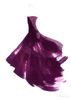 The Purple Dress 2 - Original Ink Artwork