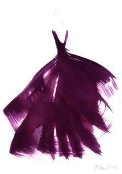 The Purple Dress 5 - Original Ink Artwork