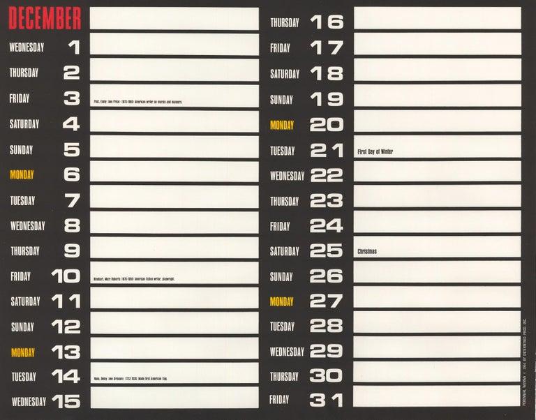 December 1965 Perennial Woman Calendar For Sale 2