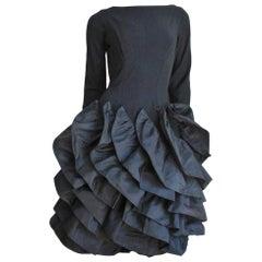 Betty Carol 1950s Sculptural Dress