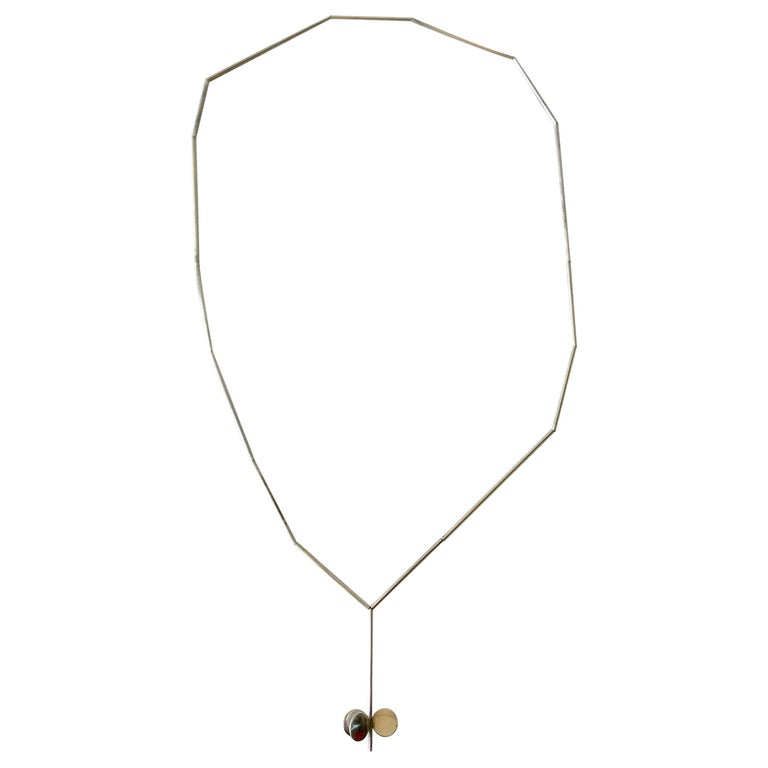 Betty Cooke American Modernist Sterling Silver Tube Necklace For Sale