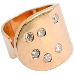 Betty Cooke Gold Ring with Diamonds