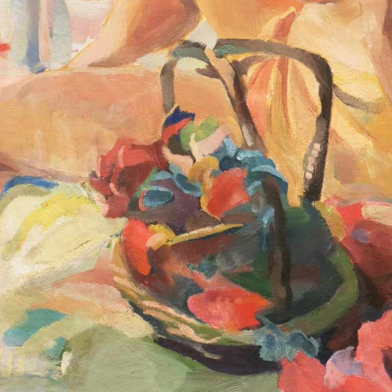 Post Impressionist Figural Oil 'Nude Seated by a River, PAFA, Woman Artist For Sale 6