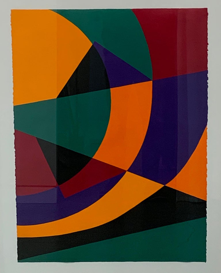 Betty Gold Abstract Painting - Puesta del Sol Salvaje