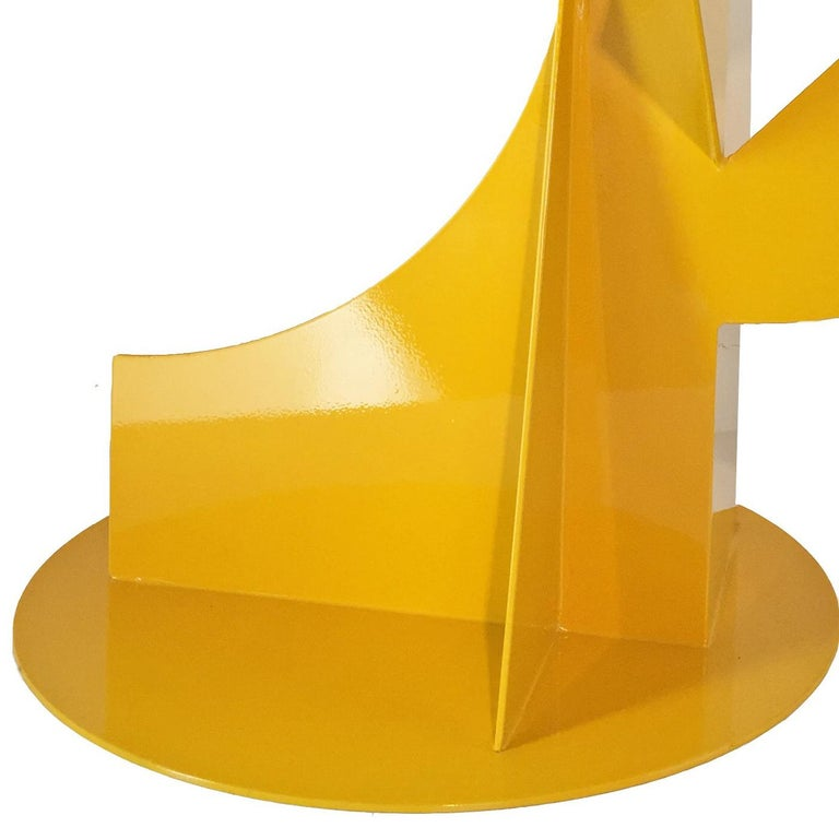 Mallorca V - Orange Abstract Sculpture by Betty Gold