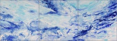 Living Oceans (triptych)  blue water ocean - Contemporary American Impressionism