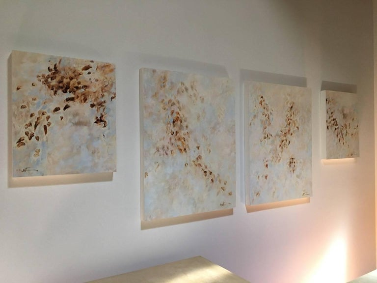 Betty Jo Costanzo Abstract Painting - Whisper Trees (quad) series of 4 paintings