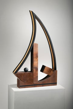 Abstract Wood Sculpture: 'Life""