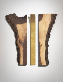 Abstract Minimal Wood Sculpture: 'Reflection'