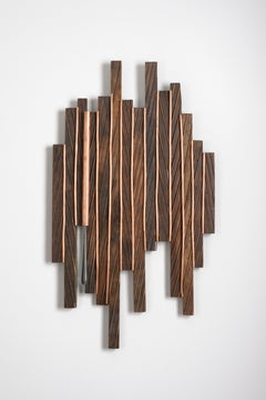 Abstract Minimal Wood Sculpture: 'Spectrum'
