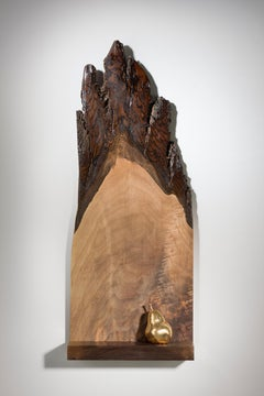 Abstract Minimal Wood Sculpture: 'The Gift'
