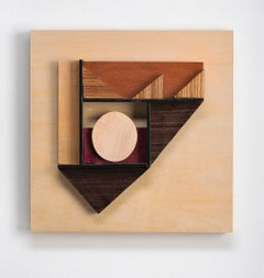 Abstract wood wall sculpture: 'Gathering #22'
