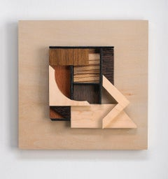 Abstract wood wall sculpture: 'Gathering #23'