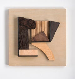 Abstract wood wall sculpture: 'Gathering #25'