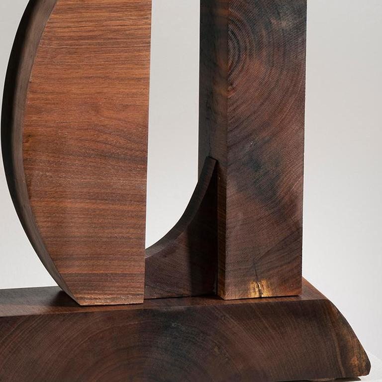 Minimal Abstract Wood Sculpture: 'Ballast of Belief' For Sale 1