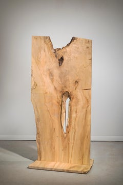 Minimal wood sculpture: 'Satire'