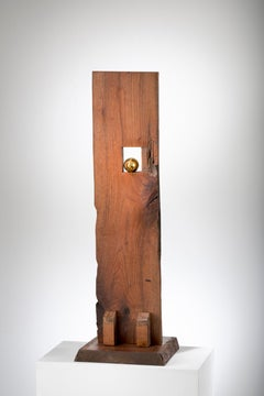 Wood minimal sculpture: 'Repunzel'