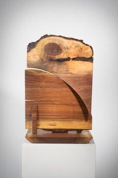 Wood sculpture: 'Double Crosser'