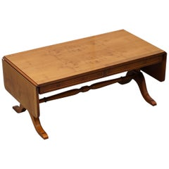 Bevan Funnell Extending Burr Yew Wood Coffee Table Matching End Table Available