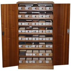Bevan Funnell Wood Sample Cabinet 100s of Timber Samples Burr Yew Walnut Oak