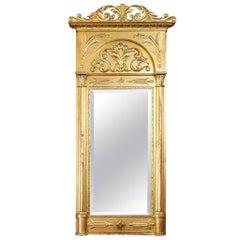 Beveled English Gilt Regency Mirror