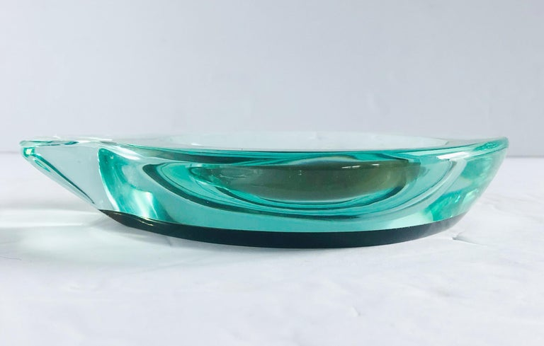 Mid-20th Century Beveled Glass Ashtray by Fontana Arte For Sale