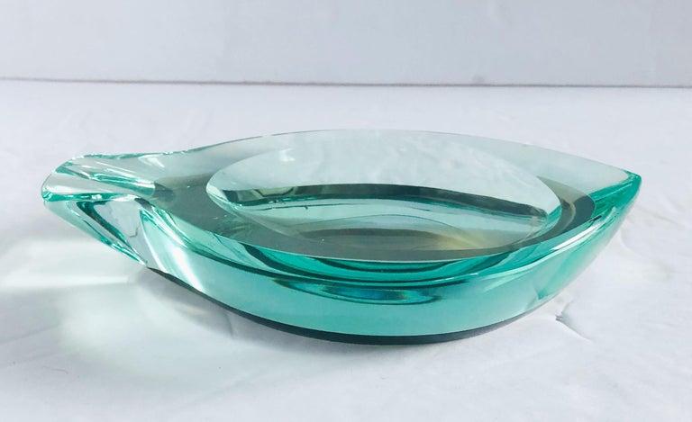 Beveled Glass Ashtray by Fontana Arte For Sale 1