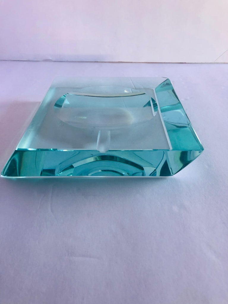 Beveled Glass Ashtray by Fontana Arte For Sale 2