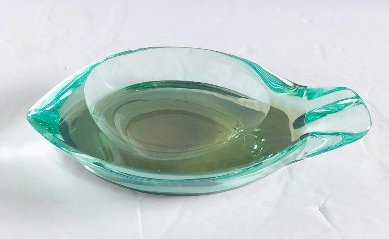 Beveled Glass Ashtray by Fontana Arte For Sale 2