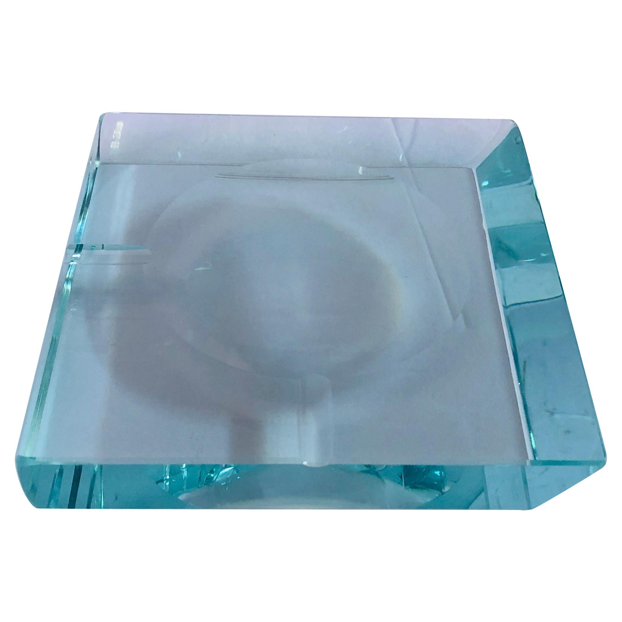 Beveled Glass Ashtray by Fontana Arte