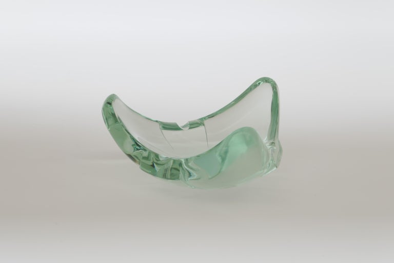 Italian Beveled Glass Ashtray or Vide Poche, Italy 1960s, Attributed to Fontana Arte For Sale