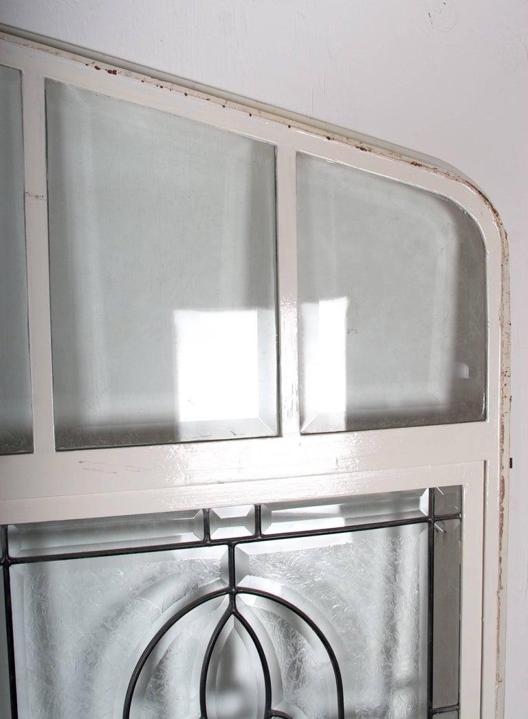 Beveled Leaded Glass Window, circa 1910, 1 Window For Sale 4