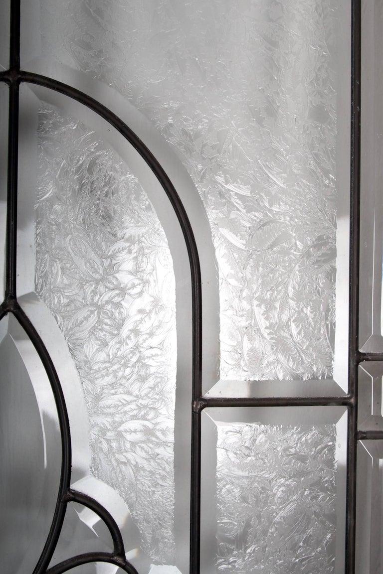 Beveled Leaded Glass Window, circa 1910, 1 Window For Sale 8