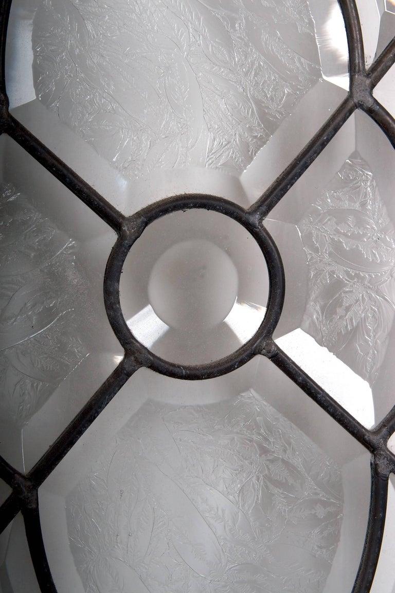 Beveled Leaded Glass Window, circa 1910, 1 Window For Sale 11