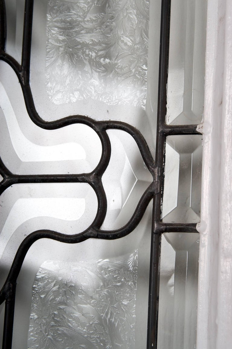 Beveled Leaded Glass Window, circa 1910, 1 Window For Sale 12