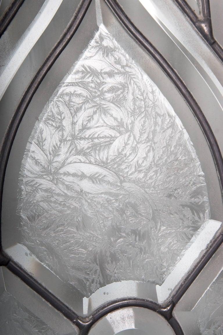 Beveled Leaded Glass Window, circa 1910, 1 Window For Sale 1