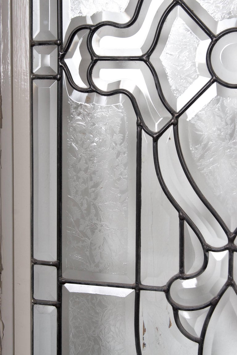 Beveled Leaded Glass Window, circa 1910, 1 Window For Sale 2