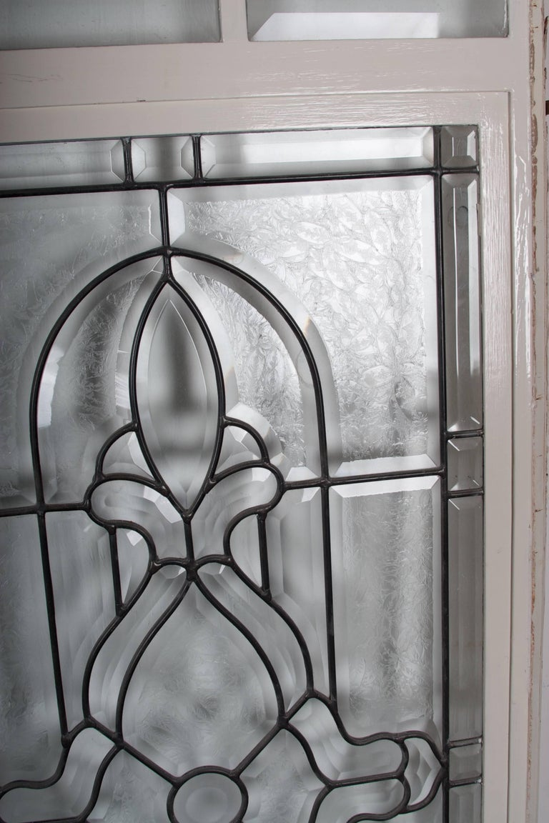 Beveled Leaded Glass Window, circa 1910, 1 Window For Sale 3