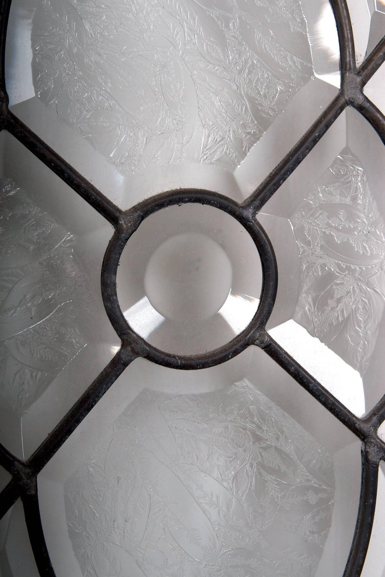 Beveled Leaded Glass Windows, circa 1910,  12 Windows- For Sale 11