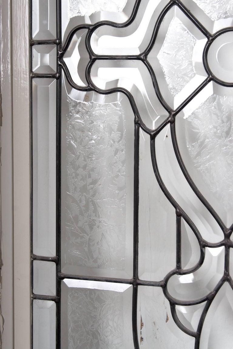 Beveled Leaded Glass Windows, circa 1910,  12 Windows- For Sale 2