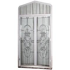 Beveled Leaded Glass Windows, circa 1910,  12 Windows-